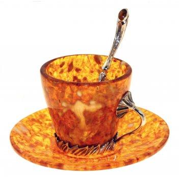 """Чашечка для кофе """"лето"""" из янтаря"""