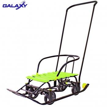 Снегомобиль snow galaxy black auto лимонные рейки на больших мягких колеса