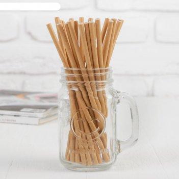 Трубочки для коктейля крафт набор 25 шт