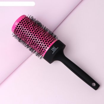 Термобрашинг профессиональный, d = 5,4 см, цвет розовый/чёрный