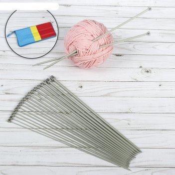 Спицы для вязания, с тефлоновым покрытием, d = 2-7 мм, 35 см, 10 пар в пен