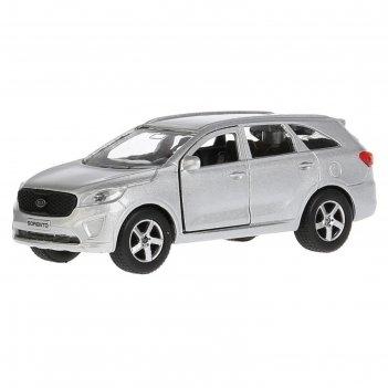 Машина kia sorento prime, 12 см, открывающиеся двери и багажник, инерционн