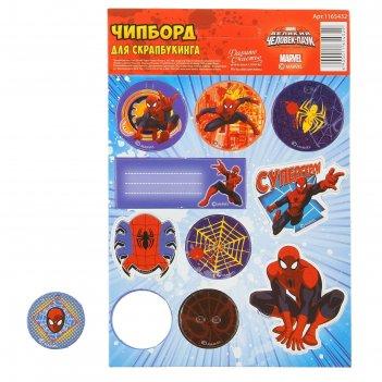 Чипборд вырубной для скрапбукинга супергерой человек паук, 11 х16 см