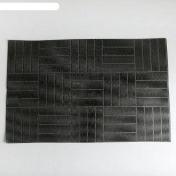 Коврик резиновый 40x60 см паркет blabar, цвет серый