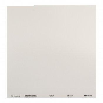 Бумага для скрапбукинга текстурированная белый 235г/м2, 30,5х30,5 см, набо