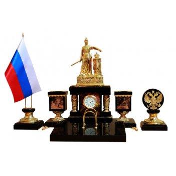 Письменный набор россия из яшмы