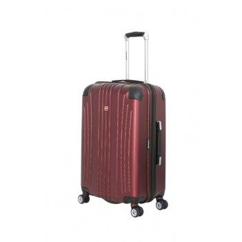 Чемодан wenger ridge, цвет бордовый,  абс-пластик, 42х28х65 см , 60л