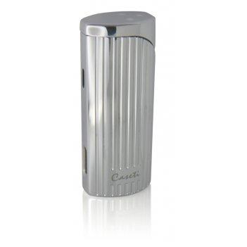 Зажигалка caseti для сигар, газовая турбо, хромированная с вер