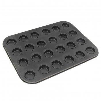 Форма для выпечки 35х26 см мини-пышки, 24 ячеек с антипригарным покрытием