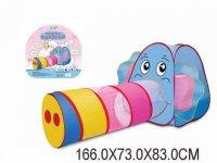 Палатка игровая с туннелем слоненок, сумка