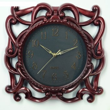Часы настенные, серия: интерьер, рузана, бордо, d=35 см