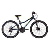Велосипед 24 pride pilot 21, 2018, цвет синий/голубой/лайм