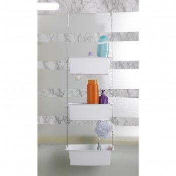 Полка подвесная для ванной, 10 х 28,8 см, цвет белый