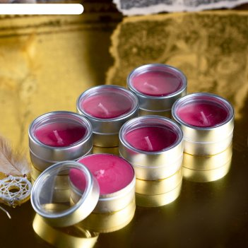 Набор свечей silver тулун рис и травы, 6х22 мл