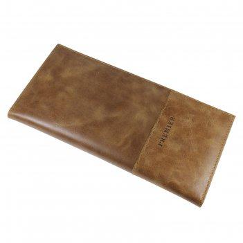 Визитница 24/192 натуральная кожа, цвет коричневый