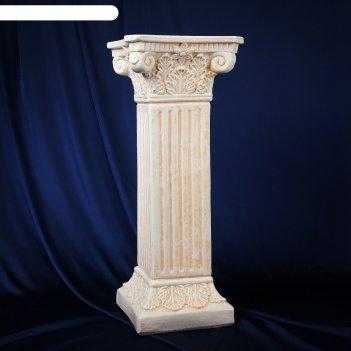Колонна античная, бежевый 65х27см