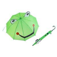 Зонт детский лягушка-квакушка, полуавтомат, со свистком, лягушками с глазк