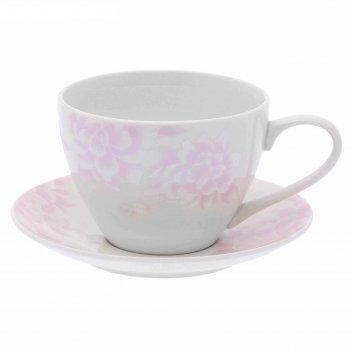 Чайная пара peonies чашка 315 мл блюдце 14,5 см