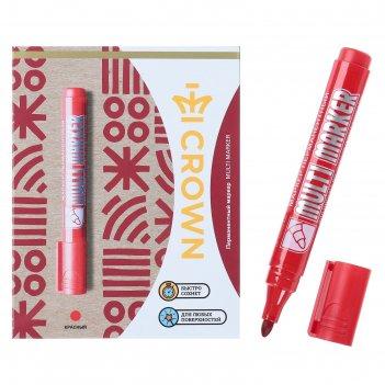 Маркер перманентный multi marker 3 мм, красный, пулевидный