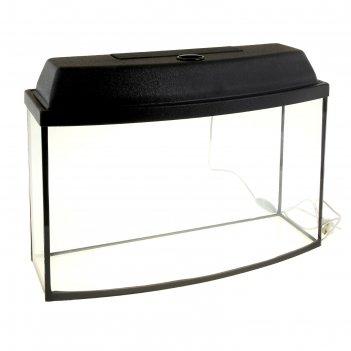 Аквариум телевизор с крышкой, 45 литров, 60 х 22 х 35/40,5 см, чёрный