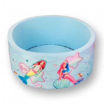 Сухой бассейн «подводная сказка» без шариков, н=40 см, d=1 м