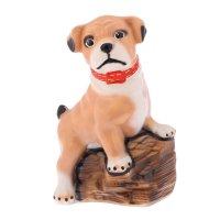 Статуэтка собака оскар, бежево-белая
