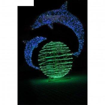 Светодиодная композиция дельфинарий, объемная, 2 х 1,65 х 1,5 м, статика,