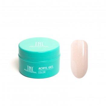 Гель для ногтей acryl gel tnl illusion №02 камуфлирующий натурально-розовы