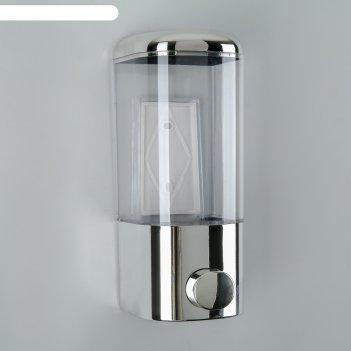 Диспенсер для жидкого мыла механический 450 мл 8х9х20 см, цвет хром