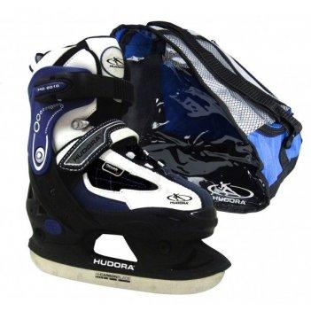 Раздвижные ледовые коньки hudora hd 2010 blue 32-35  (43022)