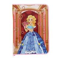 Папка д/труда а4 молния вокруг картон принцесса с букетом 2016