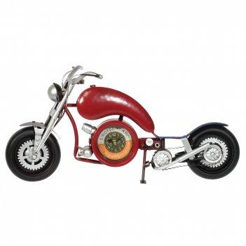 Часы настольные декоративные двусторонние мотоцикл, l59 w10 h32,5 см, (2ха