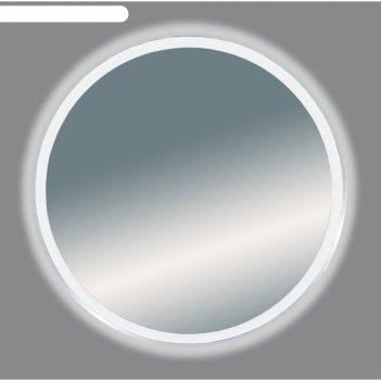 Зеркало 5 неон -  led 700х700 сенсор на корпусе (круглое)