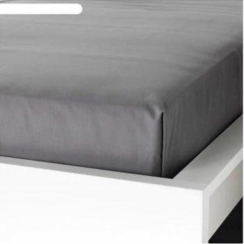 Простыня улльвиде, размера 240х260 см, цвет серый