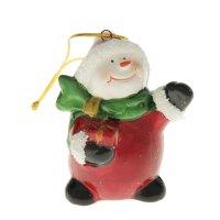 Сувенир-подвеска снеговичок с подарком