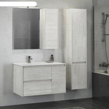 Шкаф-колонна comforty «бремен-35» дуб белый