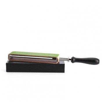 Двусторонний ремень с ручкой для правки опасной бритвы (кожа + текстиль)
