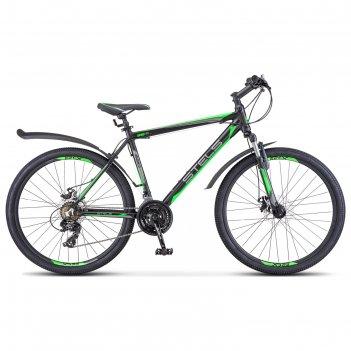 Велосипед 26 stels navigator-620 md, v020, цвет черный/зеленый/антрацит, р
