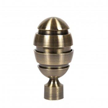 Наконечник «орех», 2 шт, d=16 мм, цвет старое золото