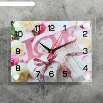 Часы настенные, серия: люди, любовь, 20х26 см микс