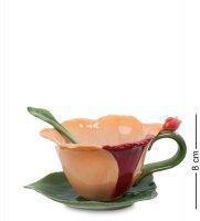 Cms-05/ 2 чайная пара с ложечкой орхидея (pavone)