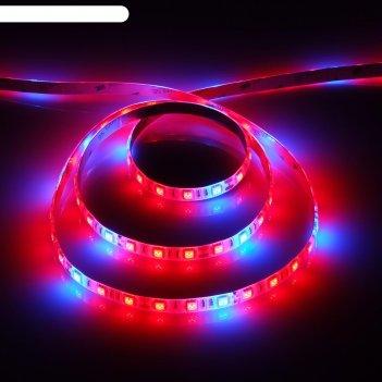 Светодиодная лента для растений luazon lighting, 2м, 60smd5050/м, 14вт/м,