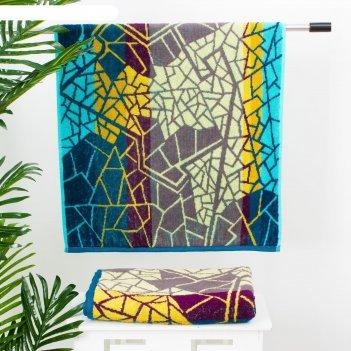 Полотенце махровое этель песчаная мозаика, 70х130 см