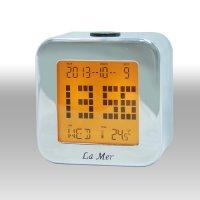 Электронные настольные часы-будильник lamer mdg2199