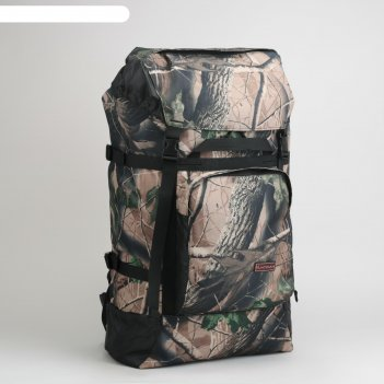 Рюкзак туристический на стяжке шнурком лес, 1 отдел с увеличением, 3 наруж
