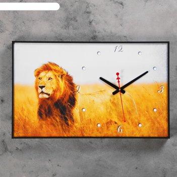 Часы-картина царь зверей, 37х60 см