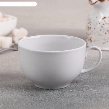 Чашка чайная 210 мл янтарь, цвет белый