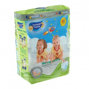 Подгузники солнце и луна мягкая забота для детей 4/l 7-14 кг small-pack 14