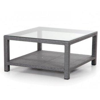 Стол журнальный brafab ninja 90 grey, садовая мебель