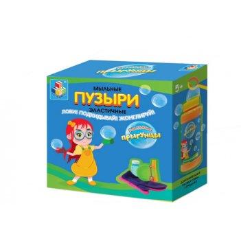 1toy прыгунцы, эластичные мыльные пузыри, 2 варежки, ёмкость для раств., р